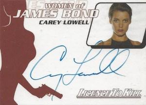 2004 Quotable James Bond Autographs WA21 Carey Lowell
