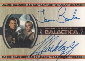 2005 Battlestar Galactica Premiere Edition Autographs Bamber Sackhoff