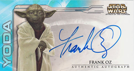 2002 Star Wars Attack of the Clones Widevision Autographs Frank Oz