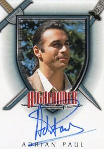 2003 Complete Highlander Autographs A-1 Adrian Paul