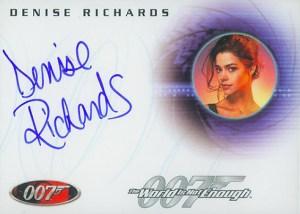 2008 James Bond In Motion Autographs A69 Denise Richards