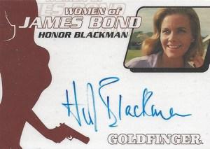2008 James Bond In Motion Autographs WA31 Honor Blackman