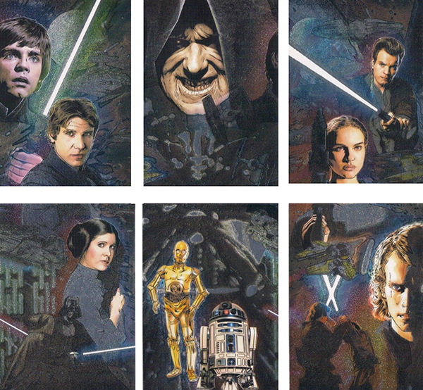 2009 Star Wars Galaxy 4 Etched Foil