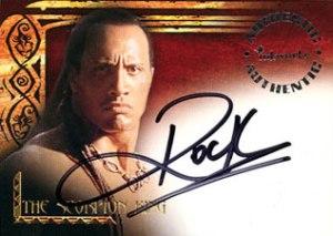 2002 Scorpion Kings Autographs A1 Dwayne The Rock Johnson as Mathayus