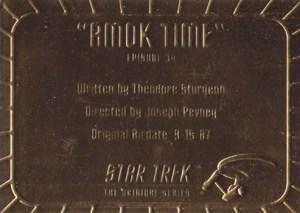 1998 Star Trek TOS Season 2 Gold Plaque