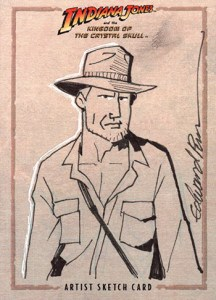 2008 Indiana Jones and the Kingdom of the Crystal Skull Sketch Card