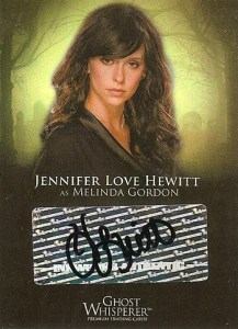 2009 Ghost Whisperer Seasons 1 and 2 SDCC Jennifer Love Hewitt Autograph