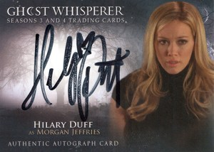 2010 GhostWhisperer Seasons 3 and 4 Autographs Hillary Duff