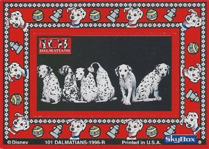1996 SkyBox 101 Dalmations Magnetic Frames