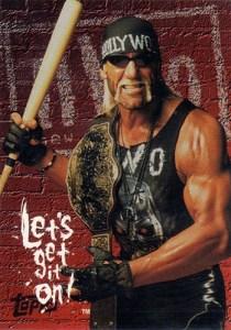 1998 Topps WCW NWO Promo Card P1 Hollywood Hogan