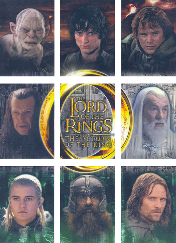 2003 Lord of the Rings Return of the King Update UK Binder Cards