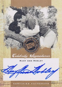2007 Elvis The Music Celebrity Signatures Mary Ann Mobley