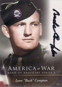 2009 America at War Band of Brothers Autograph SP1 Compton