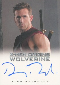2009 X-Men Origins Wolverine Autographs Ryan Reynolds