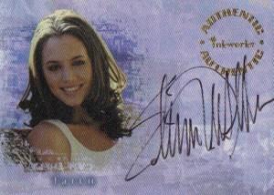 2000 Inkworks Buffy the Vampire Slayer Reflections Autographs A2 Eliza Dushku as Faith
