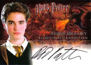 2005 Harry Potter and the GOF Autographs Robert Pattinson