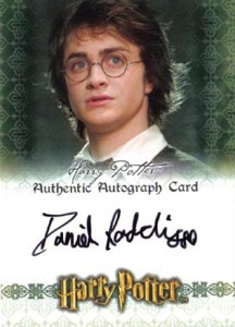 2007 World of Harry Potter 3-D Autographs Daniel Radcliffe