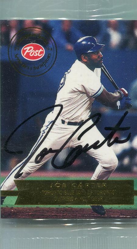 1994 Post Canada Joe Carter Autograph
