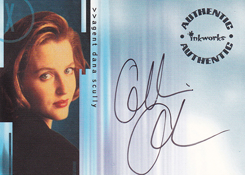 X-Files Autographs - Inkworks Seasons 6 and 7 Gillian Anderson