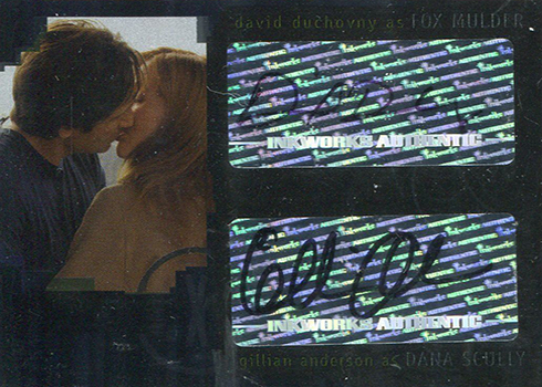 2008 Inkworks X-Files I Want to Believe David Duchovny Gillian Anderson Autograph