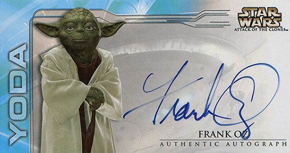 2002 Topps Star Wars: Attack of the Clones Widevision Autographs Frank Oz