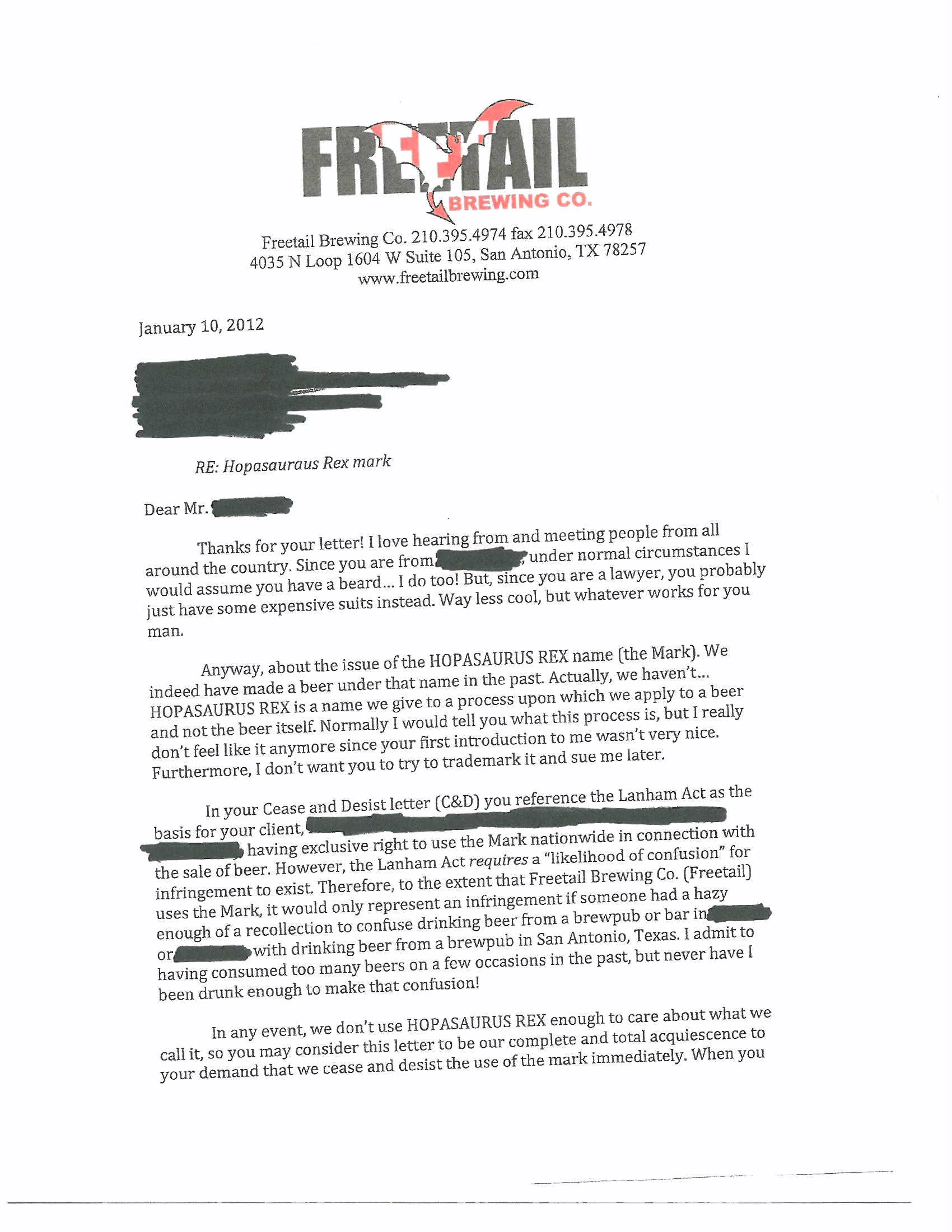 Cease And Desist Template trademark cease and desist letter – Sample Cease and Desist Letter