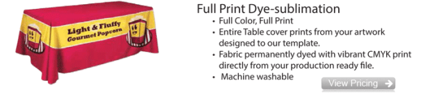 Full Print Dye Sublimation Table Cover