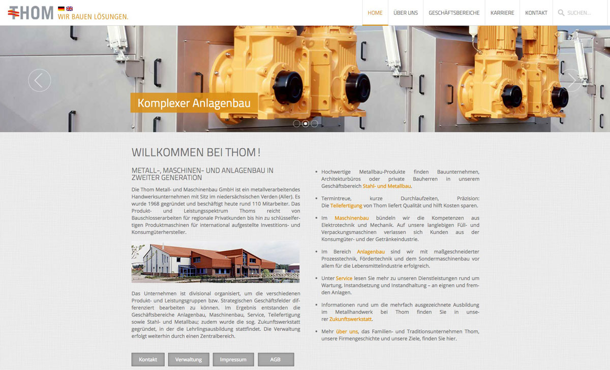 Website: Thom GmbH
