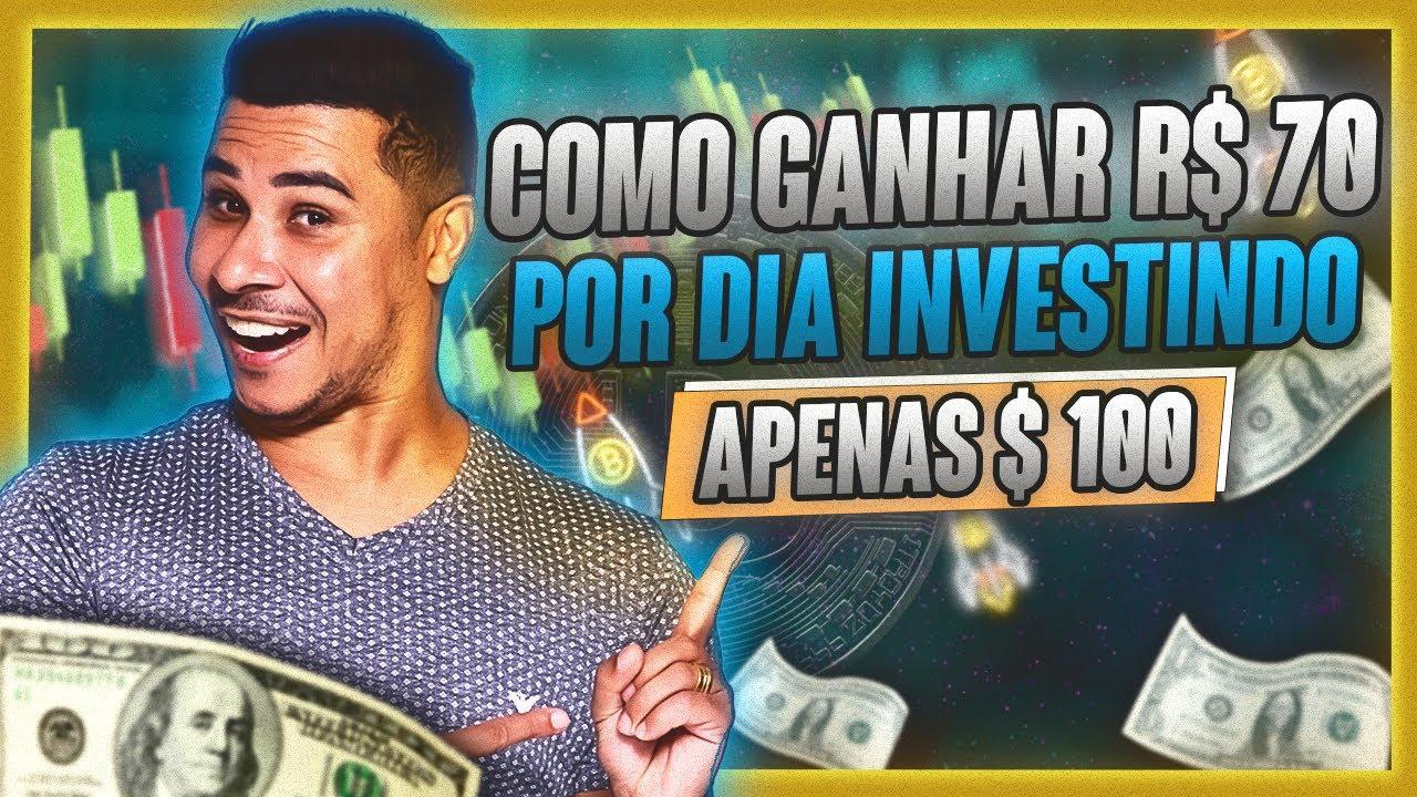 Como GANHAR R$ 70 reais Por DIA Investindo $100 em BITCOINS (Mesmo com Mercado CAÍNDO)