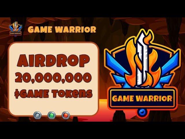 🚀Airdrop Game Warrior ganhe 1000 tokens de $GAME por completar tarefas e 100 tokens de $GAME por ref