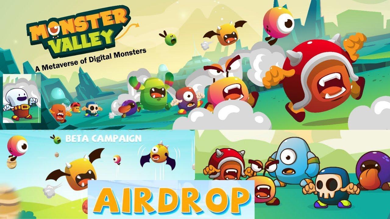 🚀Airdrop Monster valley game Ganhe 1000 tokens + 50 por ref    distribuição 10 de setembro   