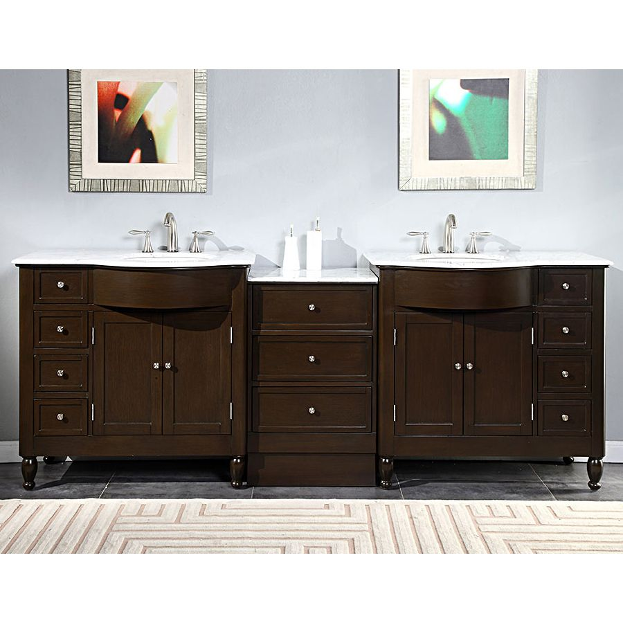 95 modern double bathroom vanity