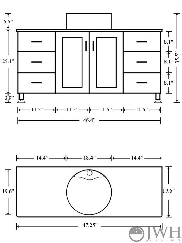 what is the standard height of a bathroom vanity