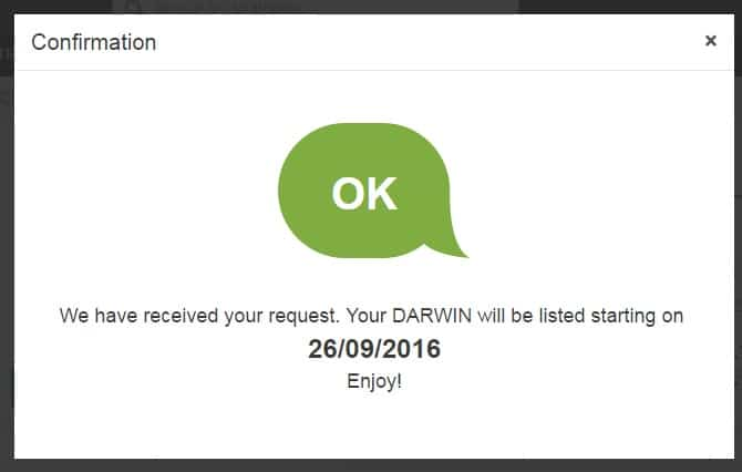 DARWIN – von der Handelsidee zum Finanzprodukt
