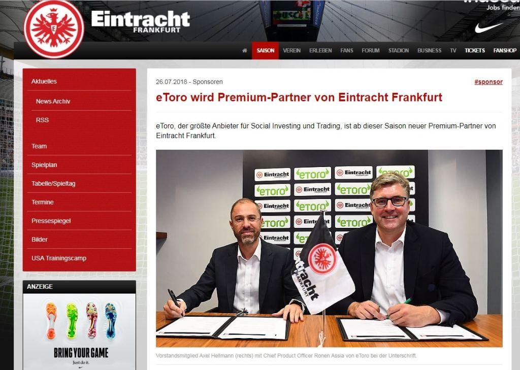 eToro goes Bundesliga