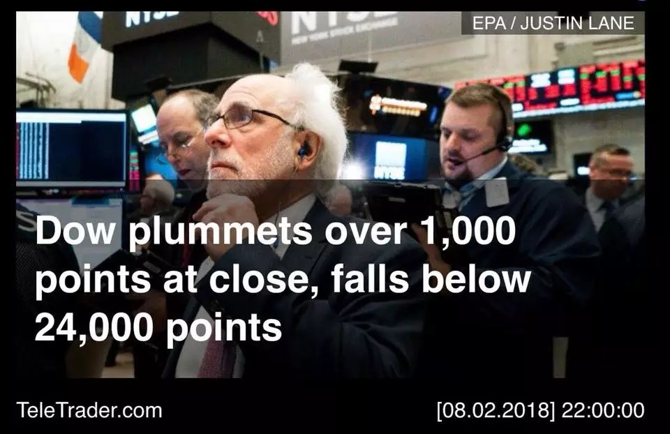 Wall Street Schwarzer Montag 2018