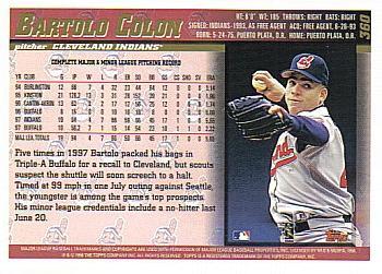 Image result for bartolo colon back of baseball card