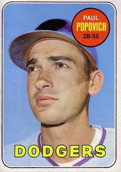 Image result for paul popovich 1969 baseball card  image