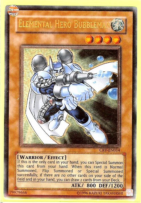Yugioh Elemental Hero Bubbleman CRV-EN014 NM//MINT Common Unlimited
