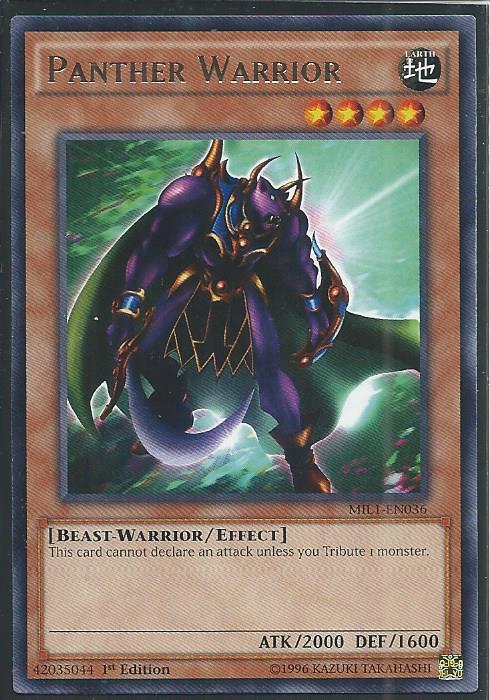 vf//rare panther warrior mil1-fr036 Yu-gi-oh mil1-en036