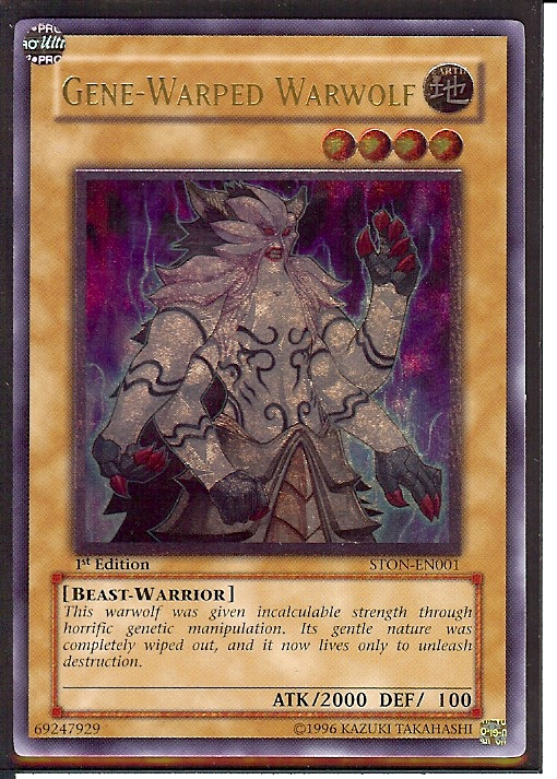 Japanese STON-JP001 Super * - Yugioh Gene-Warped Warwolf