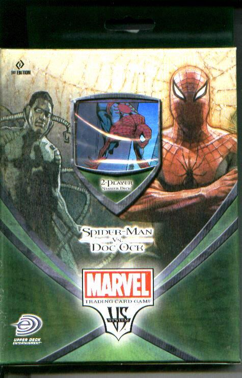 Spider Man Vs Dock Ock 2 Player Deck 80 Cards Rule Book Playmat