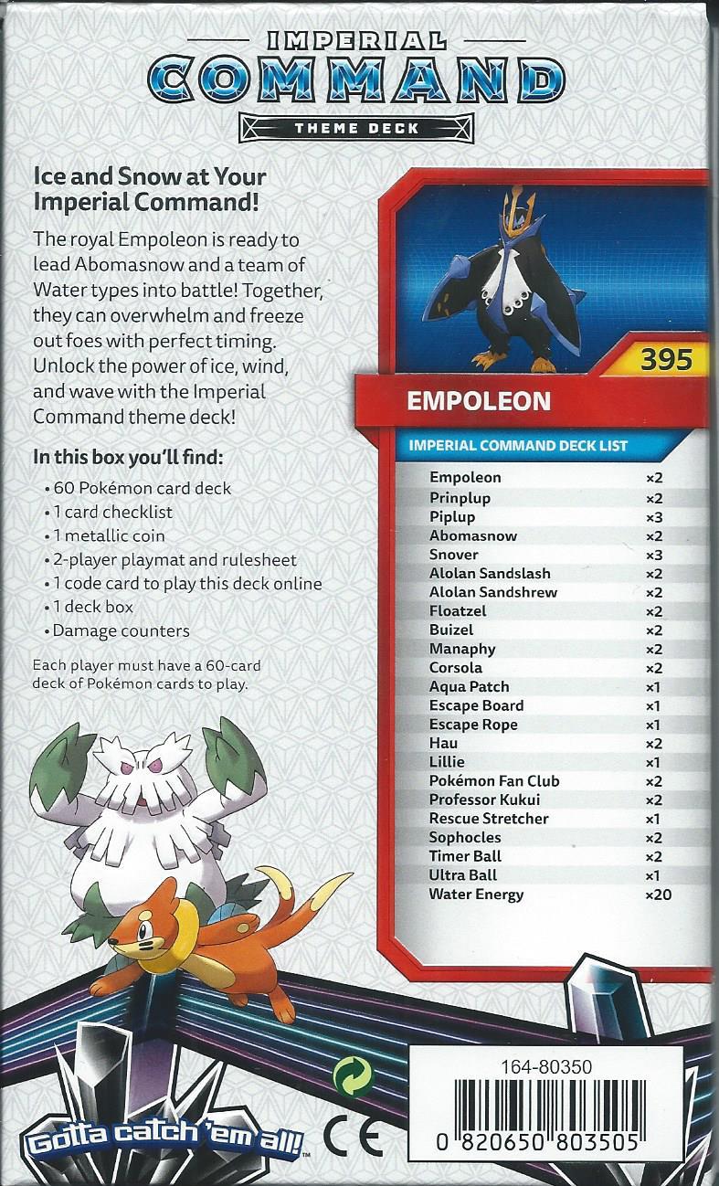 Pokemon Sun Amp Moon Ultra Prism Imperial Command Empoleon