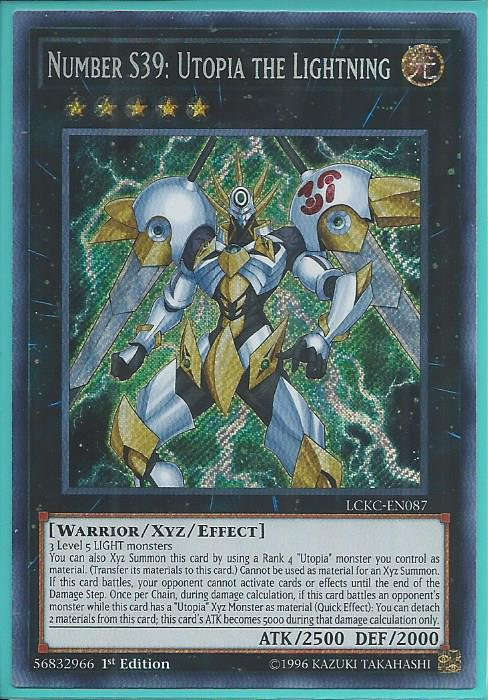 Lckc En087 Number S39 Utopia The Lightning Secret Rare