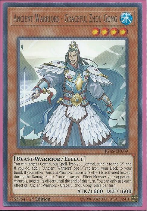 Ancient Warriors Saga Defense of Changban IGAS-EN070 x3 Yugioh 3 cards 1st