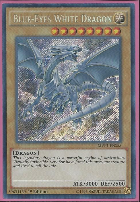 Yugioh Blue-Eyes White Dragon MVP1-ENS55 1st Secret Rare Near Mint Fast Shipping