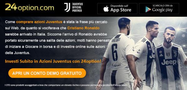 Investire Azioni Juventus 24Option