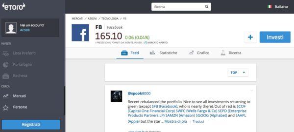 Comprare Azioni Facebook con eToro