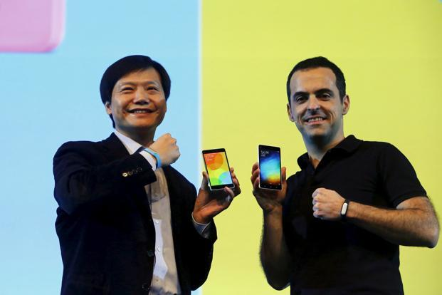 Lei Jun e Hugo Barra