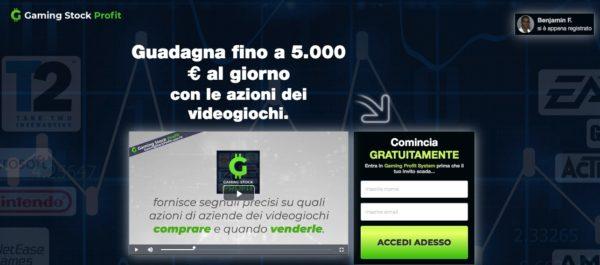 Gaming Stock Profit Segnali